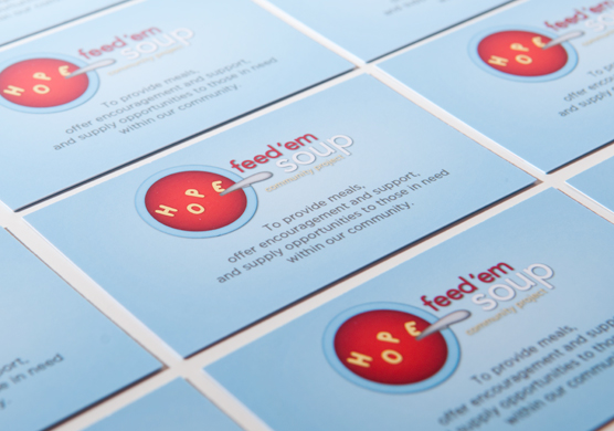 Feed'em Soup Business Cards