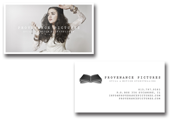 Provenance Pictures Business Card